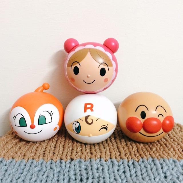 麵包超人 坐立 公仔 螺旋麵包超人 嬰兒超人 扭蛋 玩具 食玩 日本 帶回