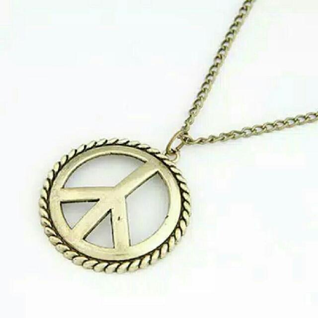 A24260 - Kalung Fashion Peace Bronze