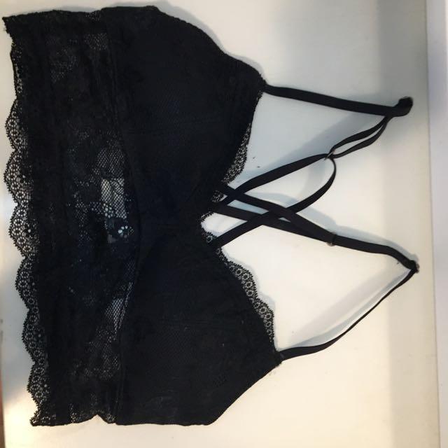 Abercrombie & Fitch Black Lace Bra/Bralette
