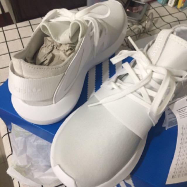 《全新》Adidas tubular viral 白 23.5