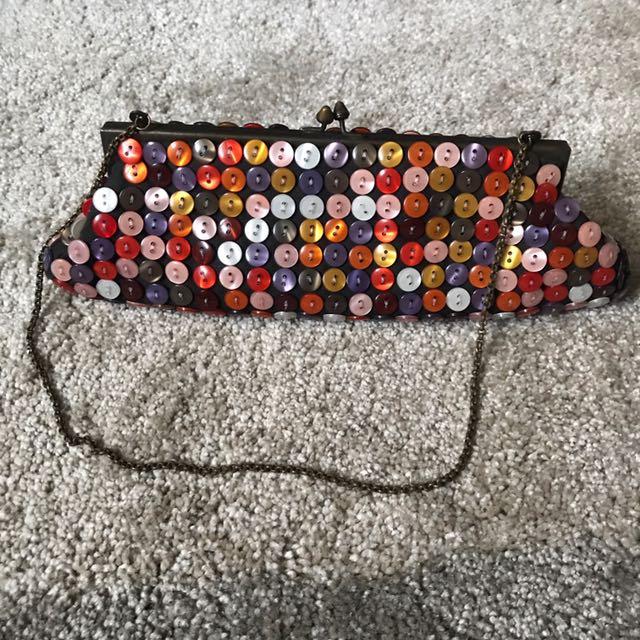 Aldo buttoned clutch bag