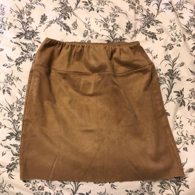 Aritzia Suede Skirt