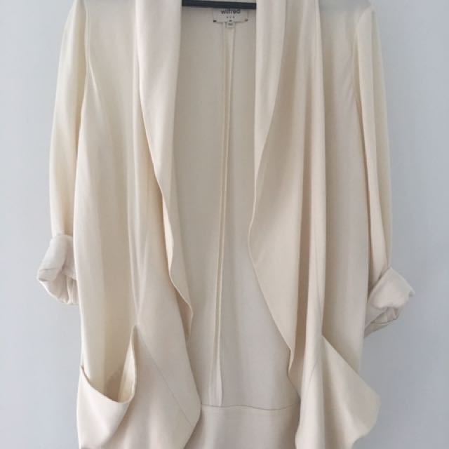 Aritzia Wilfred Cream Chevalier Blazer Size 6