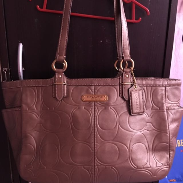 Authentic coach tote bag bronze