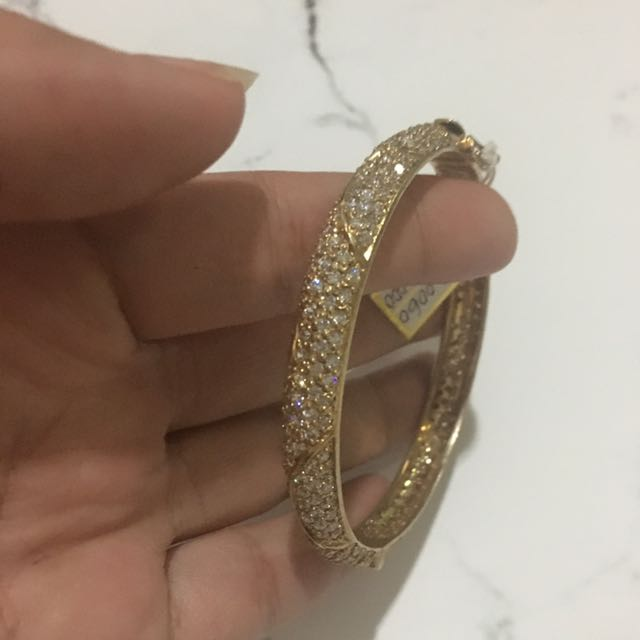 Authentic White Sapphire Brachelet GOLD