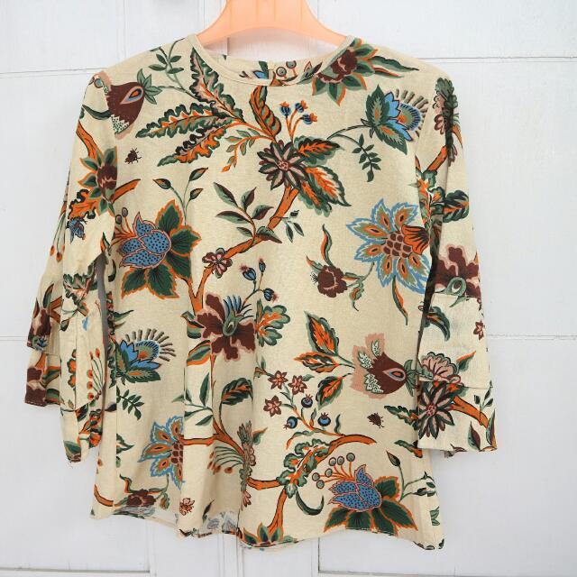 Vintage Baju Hijab Bunga