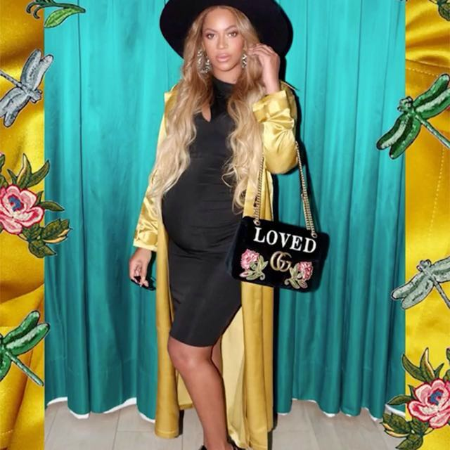 Beaded Black Gucci Style Purse 👛