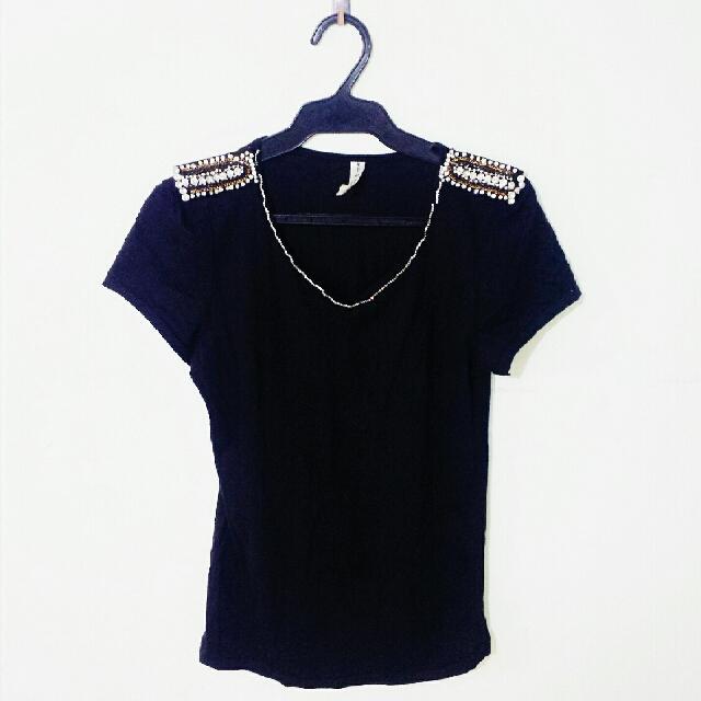 Black Jeweled Top