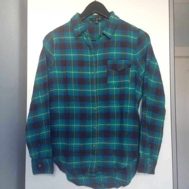 Blue and Green Flannel