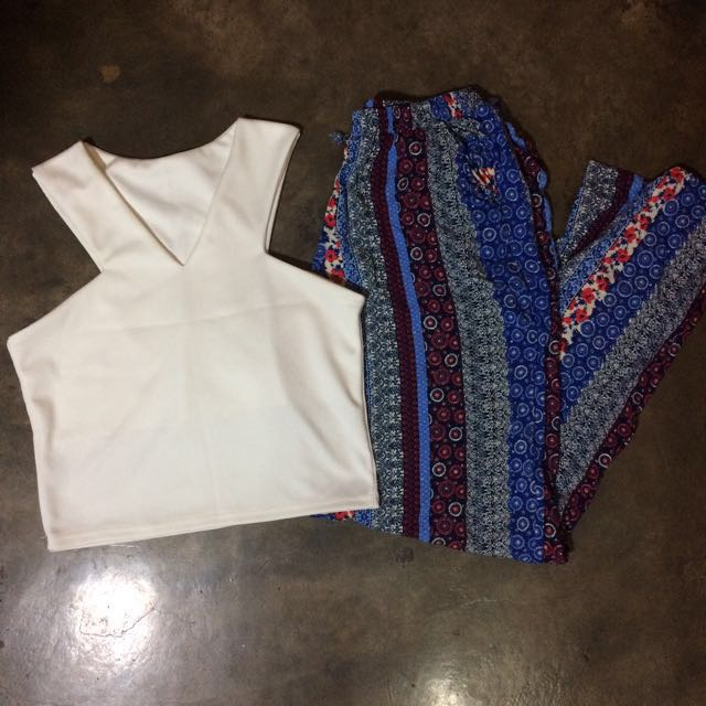 BOHO PANTS AND CROP TOP