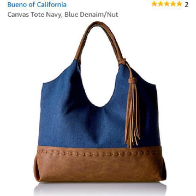 Bueno of California Tote Navy Blue