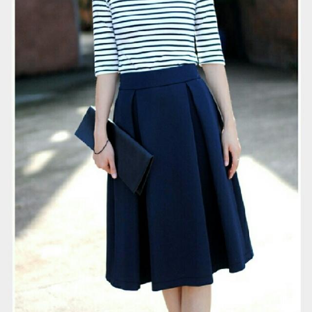 Carol Navy Midi Skirt