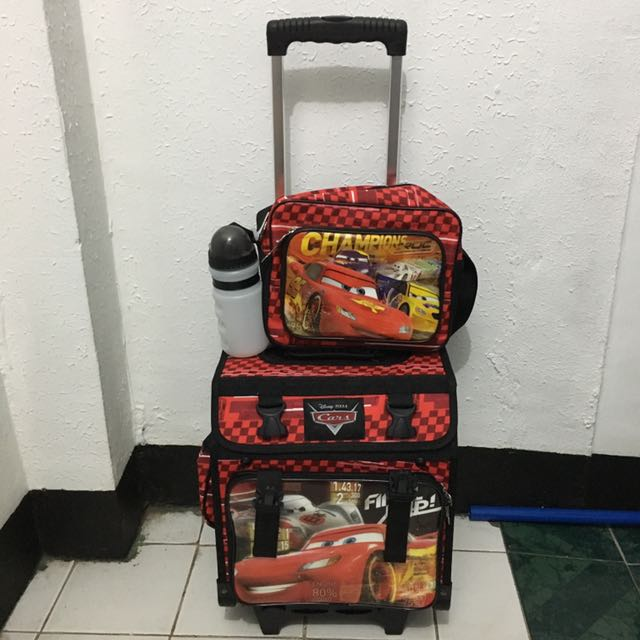 Cars Stroller with Lunch Bag