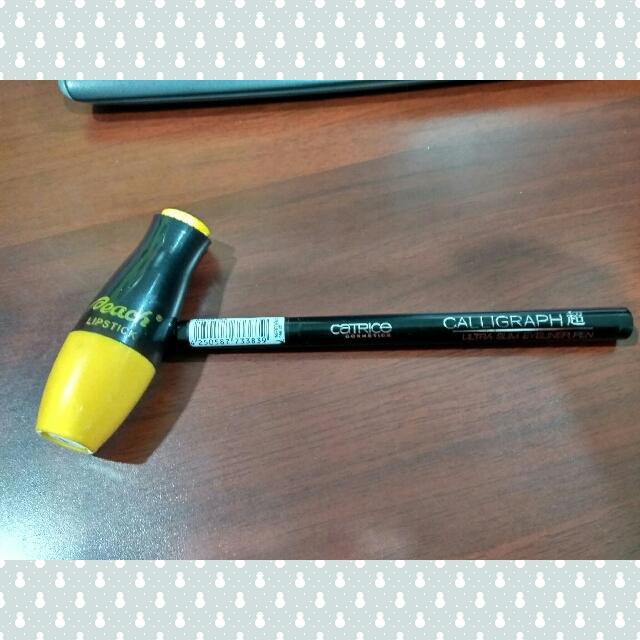 Catrice Eyeliner Pen & Peach Lipstick