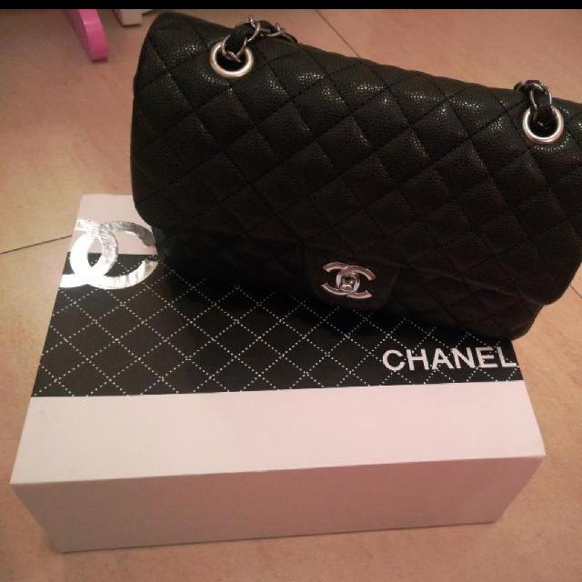 ↓ 400 - Chanel Chevron Lambskin Silver Hardware