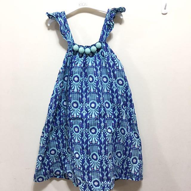 cotton on kids blue dress size 6