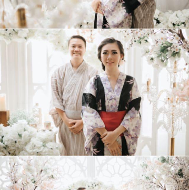Couple Kimono Bonus Geta (Sandal Jepang)