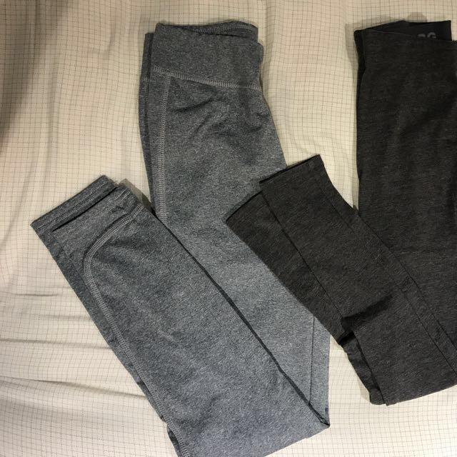 Dark & light grey leggings