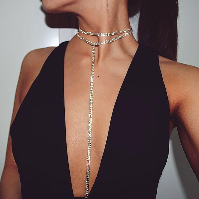 Double Layer Crystal Choker