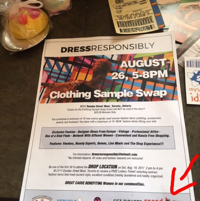 DRESS RESPONSIBLY EVENT TOMORROW