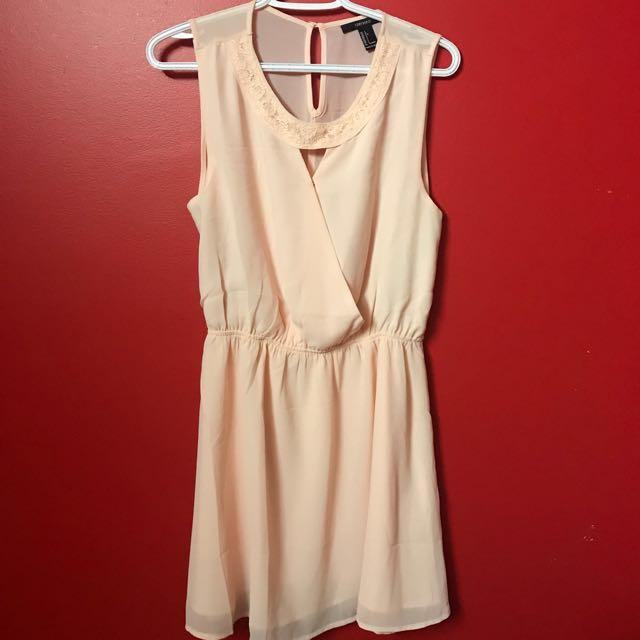 F21 Peach dress (Size L)