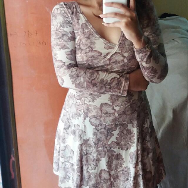 Flower Suite Mini Dress