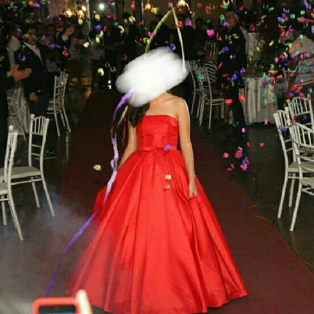 For Rent Cebu Only Red Runway Inspired Ball Gown Womens