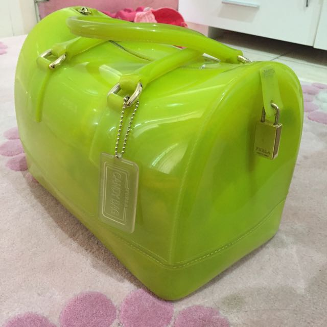 Furla Candy in Lime Green