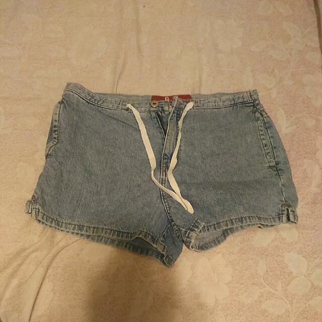 G. J. Denim Shorts