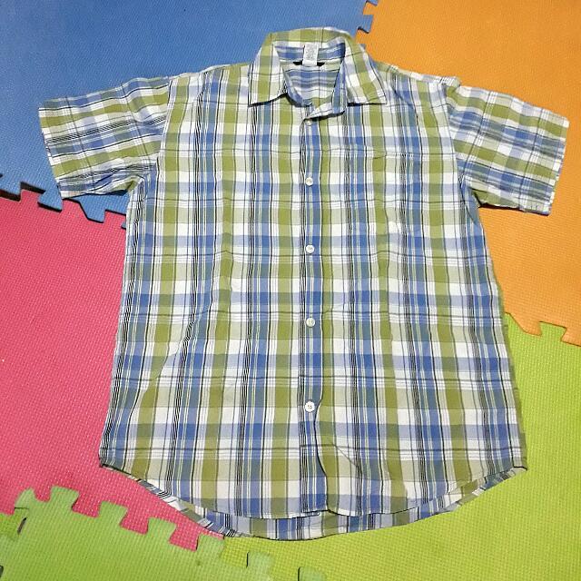 Gap Polo Shirt Bluegreen XL Boys Preloved