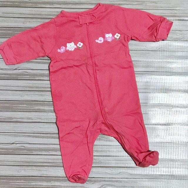 Gerber Pink Jumpsuit For Newborn