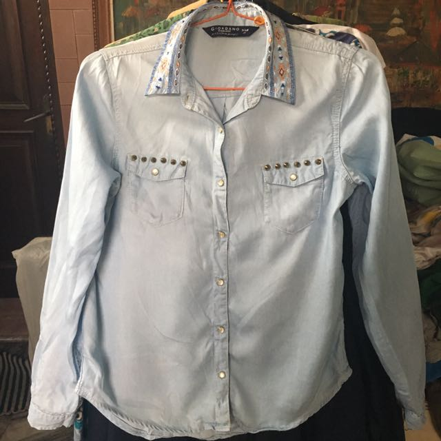 GIORDANO denim shirt