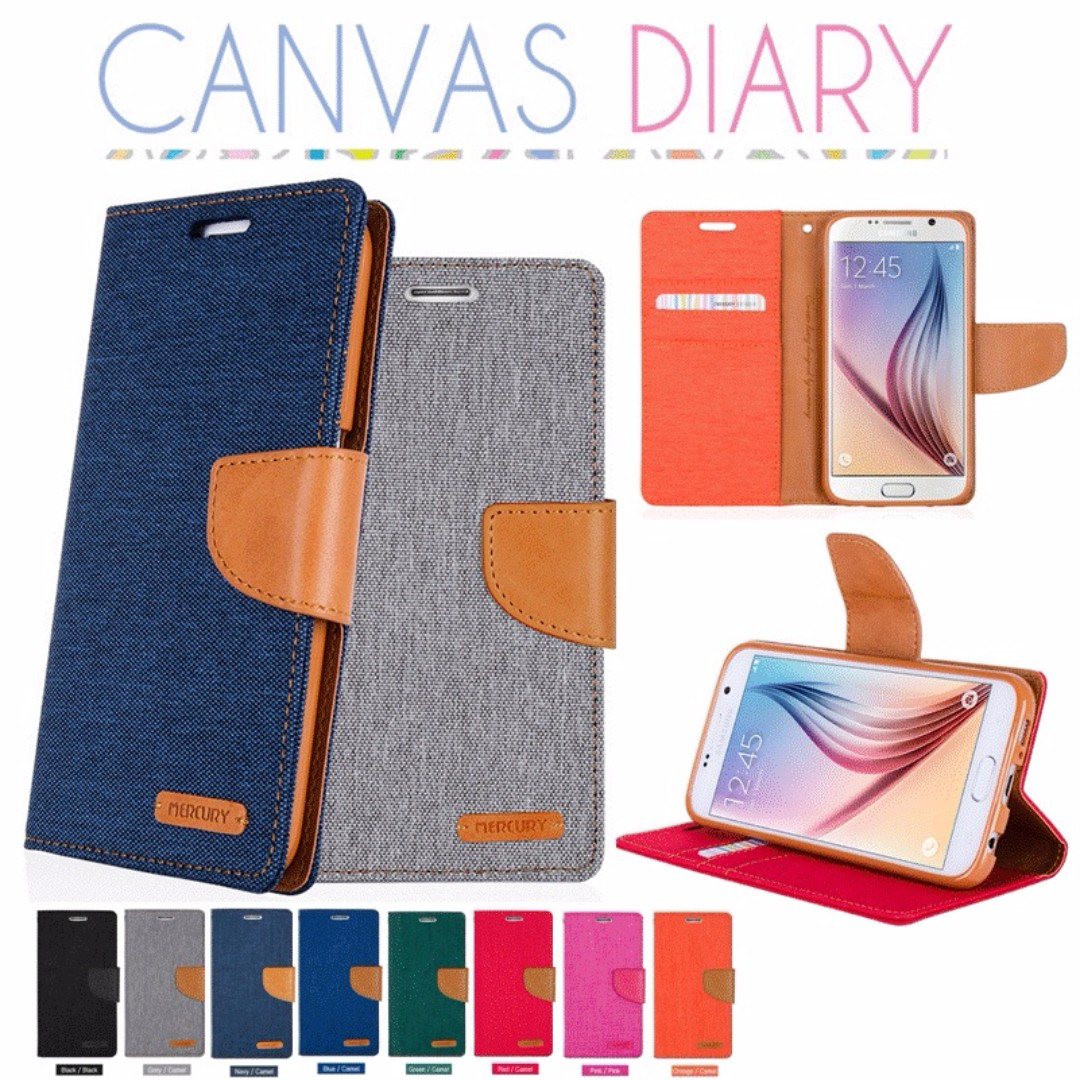 Goospery Canvas Diary Case Mercury Cooperation Mobile Phones Samsung Galaxy S6 Tablets Tablet Accessories On Carousell