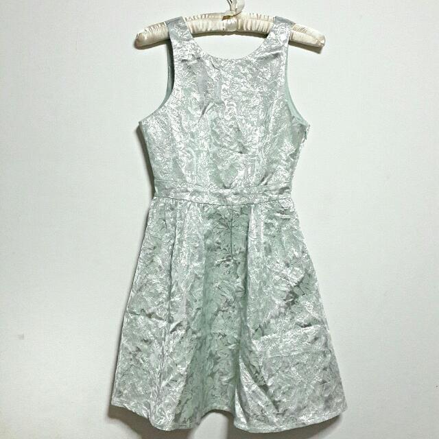 Green Silver Dress - NWT