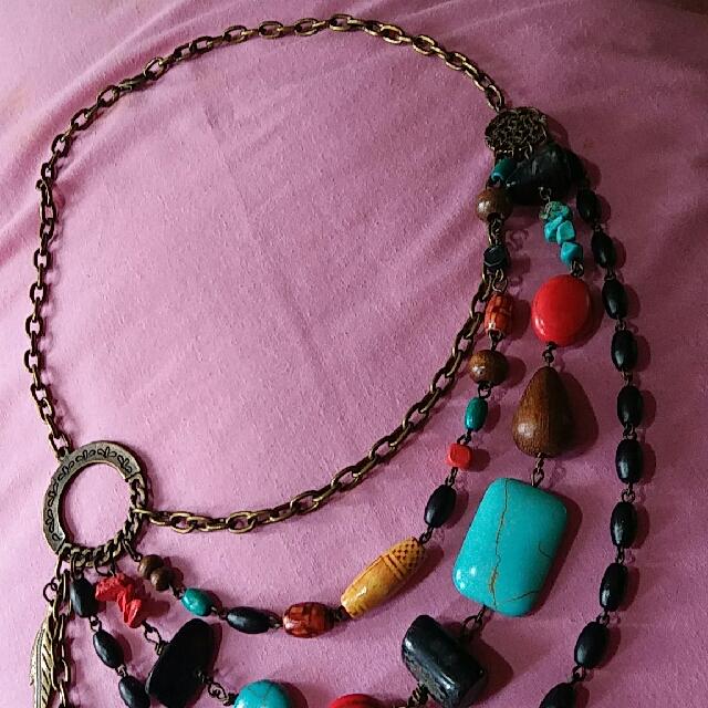 Handmade Boho 4-layered neckpiece