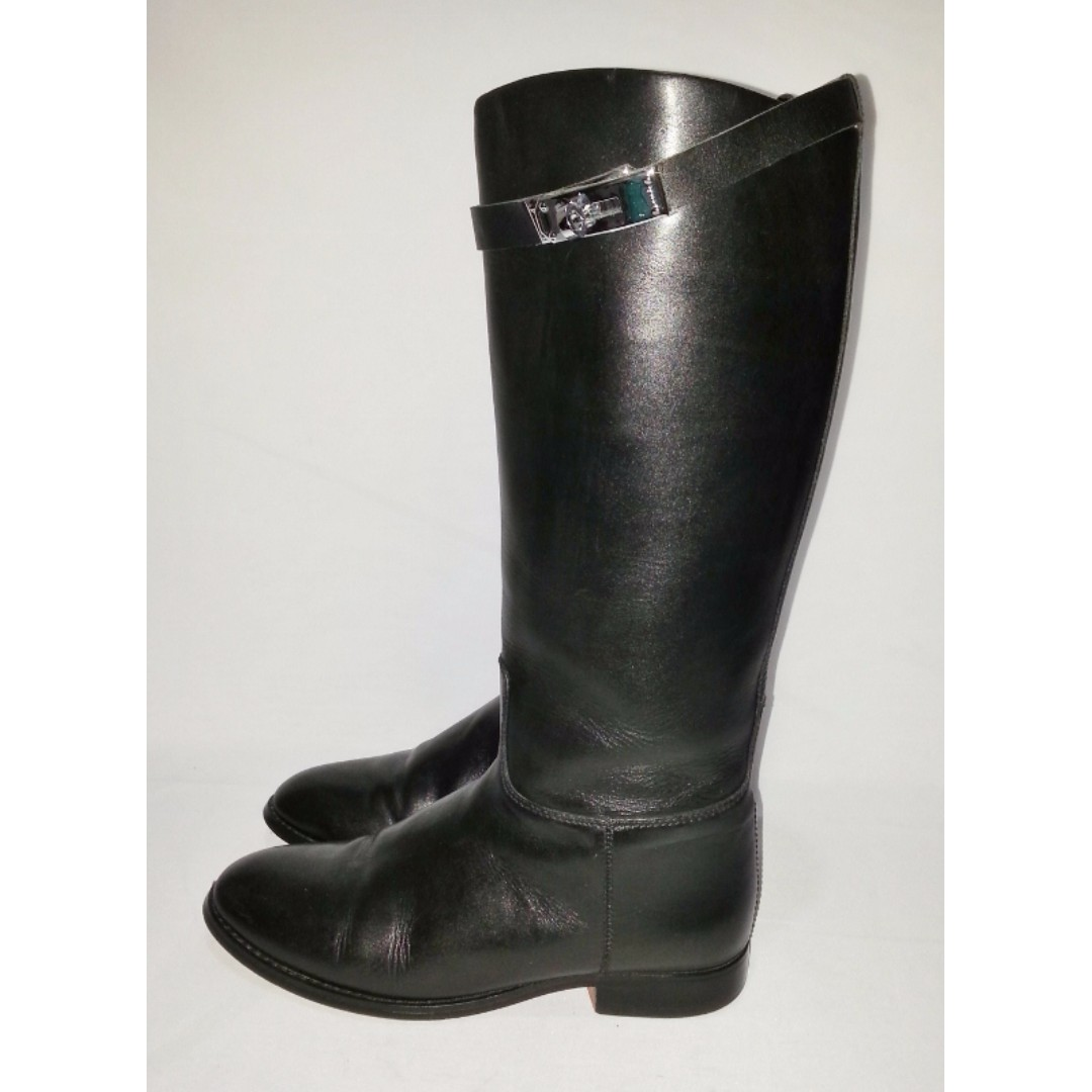 HERMES Riding Jumping Leaher Boots Size 38