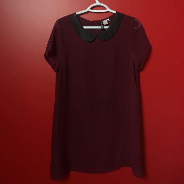 H&M peter pan collar box dress (size 8)