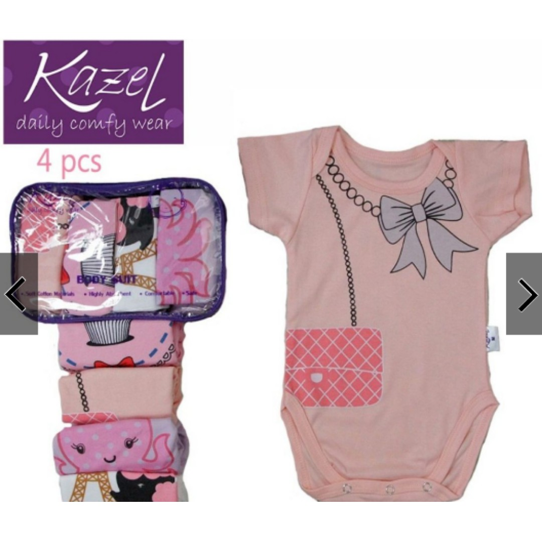 56610802e Kazel 4 Pcs Jumper Baby Girl Mix Size 0-24 Bulan