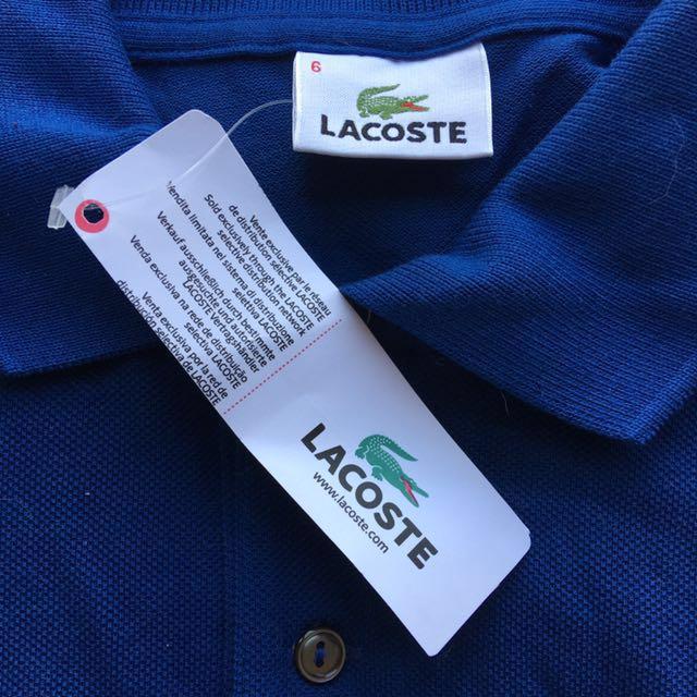 LACOSTE Polo Shirt - size 6/L