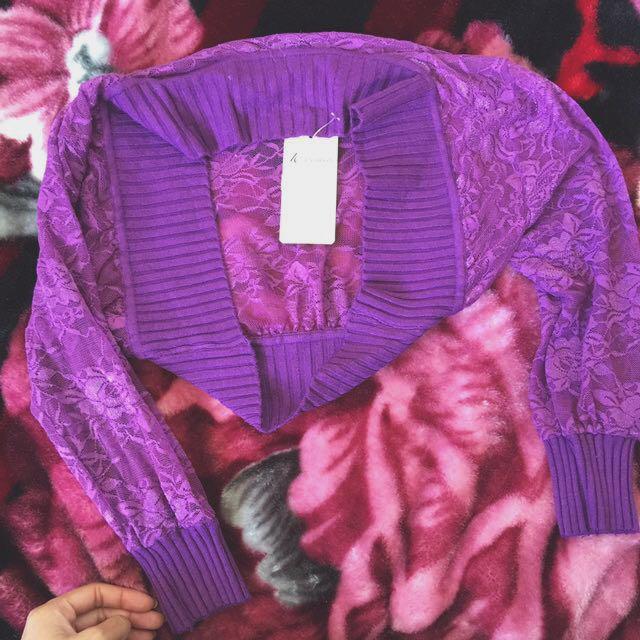 Ladies purple bolero