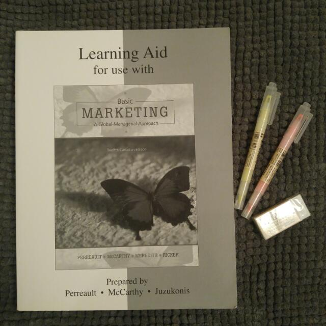 Learning Aid For Use With Basic Marketing: A Managerial Approach