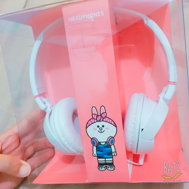 Line Friend 兔兔頭戴式耳機