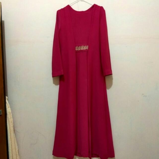 longdress pink fucia
