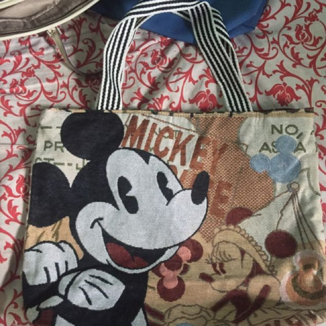 Mickey mouse canvas tote back