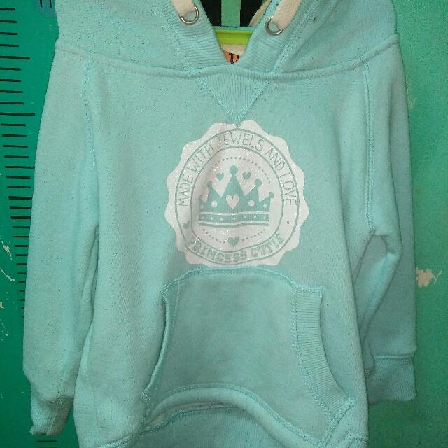 Mint blue hoodie