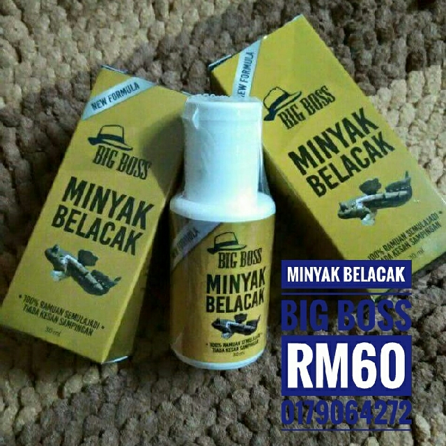 Minyak Belacak Big Boss For Men Use