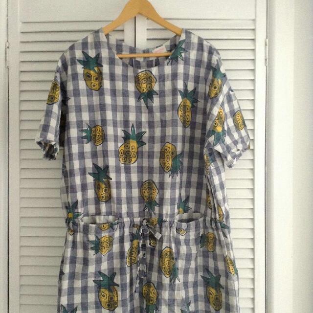 M/L Gorman Pineapple Picnic Dress