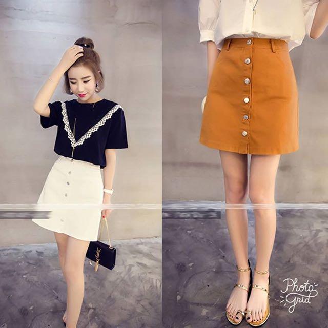 New Button skirt