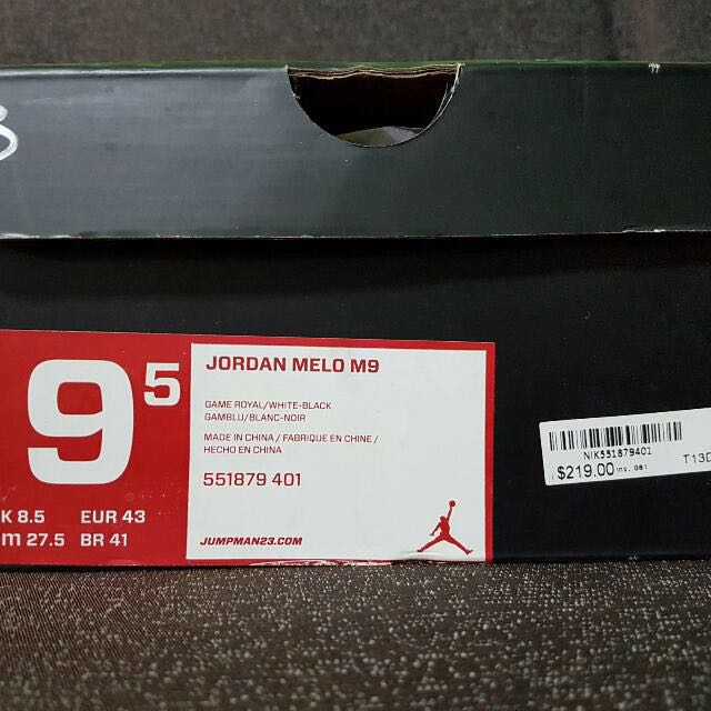 check out 1036e 49371 Nike AIR JORDAN MELO M9 (100% Authentic), Men s Fashion, Footwear on ...