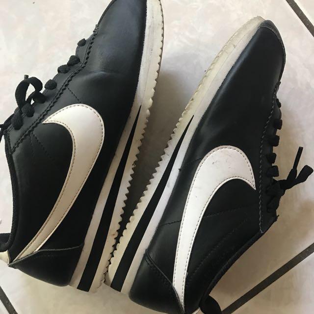 Nike 黑皮革阿甘鞋NIKE CLASSIC CORTEZ LEATHER  女鞋25